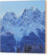 Sunrise On The Alps Wood Print