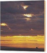 Sunrise On The Ocean Wood Print