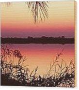 Sunrise On The Okavango Delta Wood Print