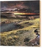 Sunrise On The Pawnee Grasslands Wood Print by Ric Soulen