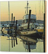 Sunrise On The Petaluma River Wood Print by Bill Gallagher