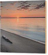 Sunrise On The Potomac Wood Print