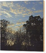Sunrise On The River Wood Print