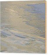 Sunrise On The River Ice #2 Wood Print