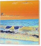 Sunrise On Tybee Island - Photopower 168 Wood Print