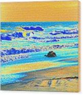 Sunrise On Tybee Island - Photopower 169 Wood Print