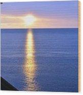 Sunrise On Whitefish Bay Wood Print