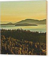 Sunrise Over Bellingham Bay Wood Print
