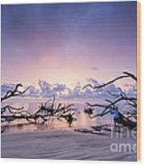 Sunrise Over Blackrock Beach Wood Print