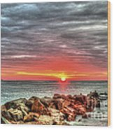 Sunrise Over Breech Inlet On Sullivan's Island Sc Wood Print