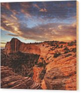 Sunrise Over Canyonlands Wood Print by Darren  White