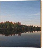 Sunrise Over Chena River Wood Print