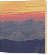Sunrise Over Clingmans Dome, Great Wood Print