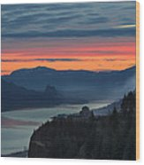 Sunrise Over Crown Point Wood Print