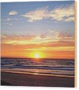 Sunrise Over Dolphins Wood Print