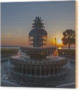 Sunrise Over Downtown Charleston  Wood Print
