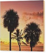 Sunrise Over Florida Bay Wood Print