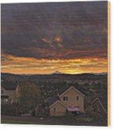 Sunrise Over Happy Valley Wood Print