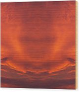 Sunrise Over Jackson Michigan Mirror Image Wood Print