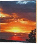 Sunrise Over Keystone Wood Print