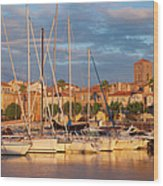 Sunrise Over La Ciotat France Wood Print