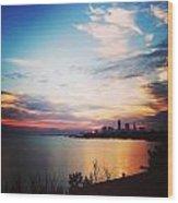 Sunrise Over Lake Erie Cleveland Wood Print