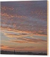 Sunrise Over Lake Manistee Wood Print