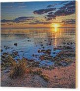 Sunrise Over Lake Michigan Wood Print
