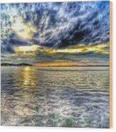 Sunset Over Lake Ontario Wood Print