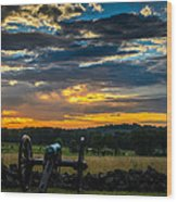 Sunrise Over Little Round Top Wood Print