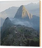 Sunrise Over Machu Picchu Wood Print
