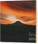 Sunrise Over Mt. Rainier 3m Wood Print