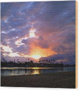 Sunrise Over Naples Island Wood Print