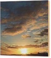 Sunrise Over Port Angeles Wood Print