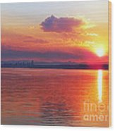 Sunrise Over Seattle Wood Print