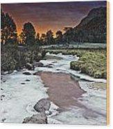 Sunrise Over Sheep Lakes Wood Print by Tom Wilbert