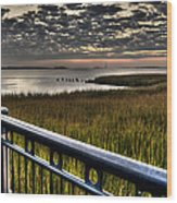 Sunrise Over The Cooper River Wood Print