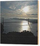 Sunrise Over The Golden Gate Wood Print