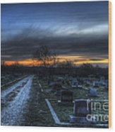 Sunrise Over The Grave Wood Print