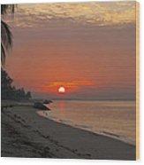 Sunrise Over The Horizon Wood Print