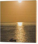 Sunrise Over The Mediterranean Wood Print