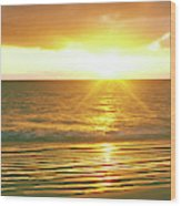 Sunrise Over The Pacific Ocean, Cabo Wood Print