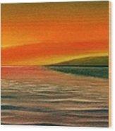 Sunrise Over The Sea Wood Print