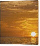 Sunrise Over The Sea Of Cortez Wood Print
