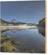 Sunrise Over Trillium Lake Wood Print
