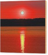 Sunrise Over Whidbey Island Wood Print