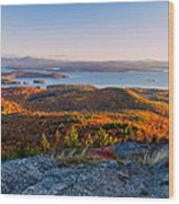 Sunrise Over Winnipesaukee. Wood Print