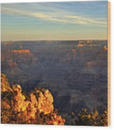 Sunrise Over Yaki Point At The Grand Canyon Wood Print