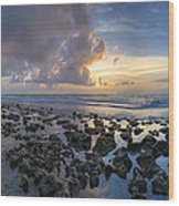 Sunrise Panorama Wood Print