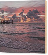 Sunrise Panoramic Wood Print by Adam Romanowicz